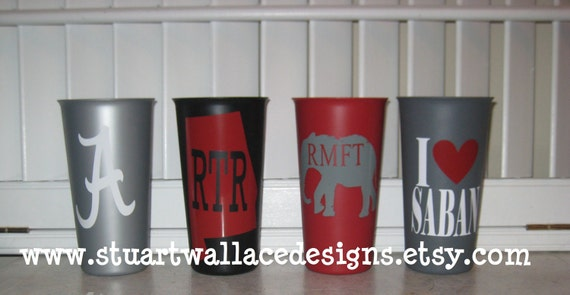 ALABAMA GAME DAY Cups - Set of 4 -