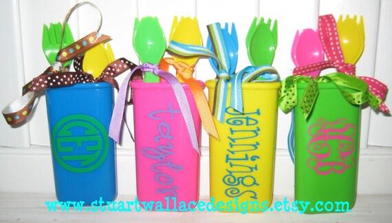 Personalized Toddler Travel Utensil Set, Easter Gift, Basket Stuffer