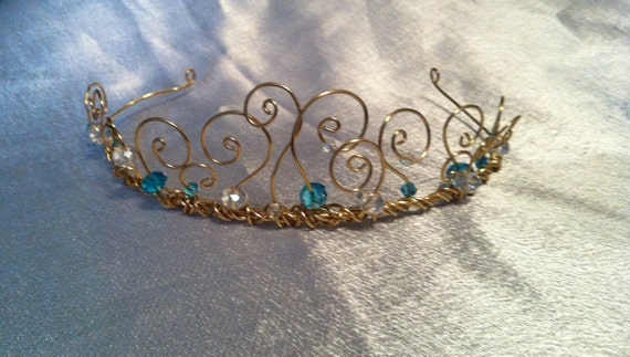 Fantasy Tiara-Blue a Wire Princess Crown