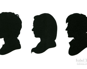 SALE * LAST AVAILABLE * Doctor Who Silhouettes (Eleven, Amy Pond, and Rory Williams)