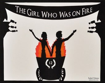 SALE * Girl Who Was On Fire Hunger Games Original Paper Silhouette