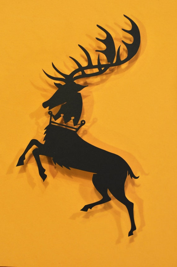Baratheon Sigil Game of Thrones Papercut by italsma on Etsy