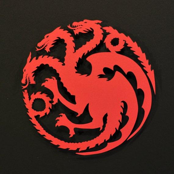 Items similar to SALE * LAST AVAILABLE * Targaryen Sigil ...