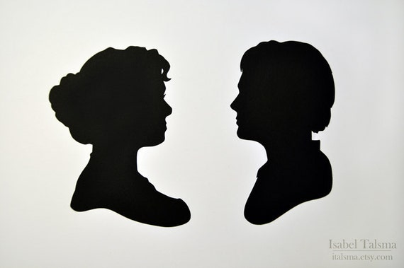 Jack and Rose  - Titanic Silhouettes