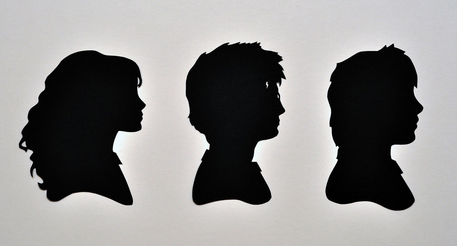 The Golden Trio Harry Potter Silhouettes