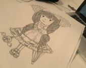 A4 Cute Custom Portrait Artwork Illustration Cartoon Caricature