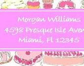Lilly Pulitzer-esque Custom Address Labels