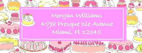 Lilly Pulitzer-esque Custom Address Labels