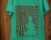 Women's Organic Tshirt, Size Small, Medium, Large, XLarge's, Screenprinted, Eco Friendly, Handmade, Made to Order