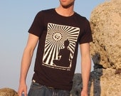 Men's Organic Tshirt, Size Small, Screenprinted, Eco Friendly, Handmade by UniverSoulWear, Ready to Ship