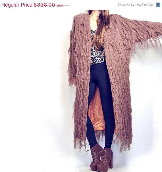 storewide sale //// ViNTAGE AVANT GARDE FRiNge Coat