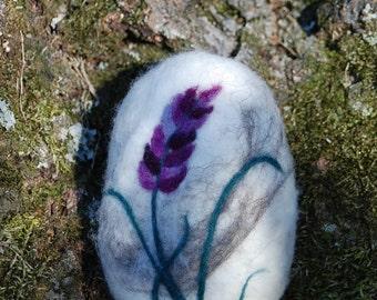 Felted Soap, Lavender Soap, Hand Felted. Spring Flowers. Gift. Purple. Handmade.