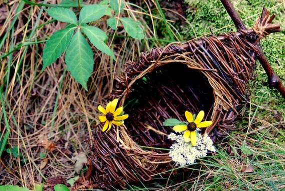 Vintage Weaver Bird Nest Basket Spring Easter