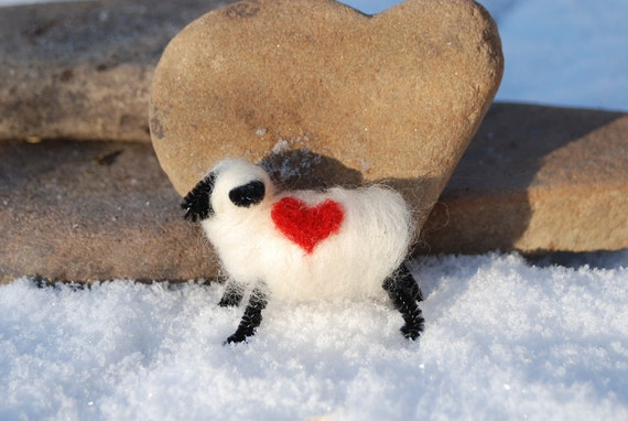 Easter Felted Sheep Love Ewe Love You Spring Lamb Handmade