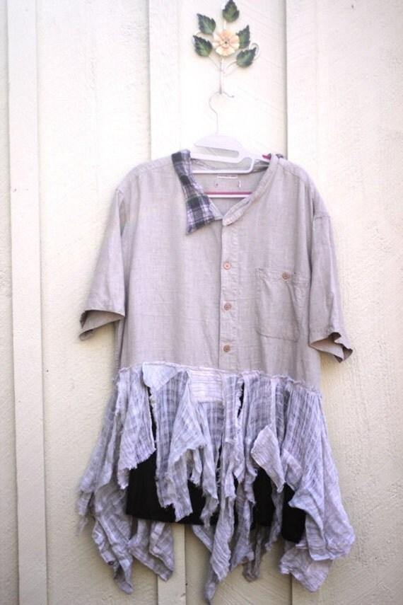 Dress / Tunic / Oversized / Upcycled / Treasure to Your Heart / Cotton / Tunic by Dvoika