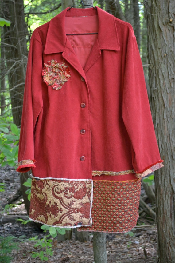 A Walk in the Park / Oversized shirt / Tunic / One of a kind by Dvoika