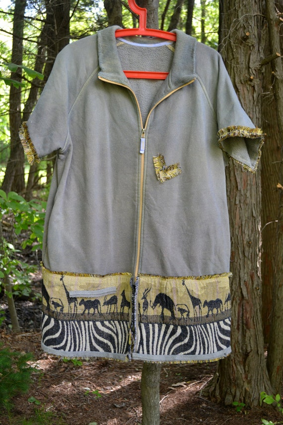 Hand-dyed/Shirt/Tunic/ Extra-Large/ Africa/  One of a kind by Dvoika