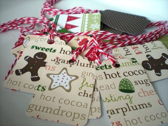 Holiday Gift Tags Set of 20 Christmas Gift Tags with Twine