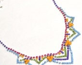painted rhinestone necklace Banner Day Chevron