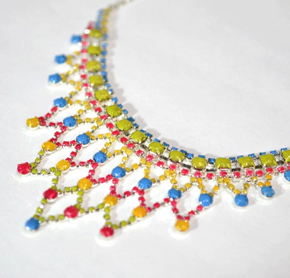 painted rhinestone necklace Cake