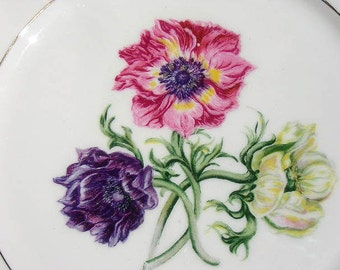 Vintage Dinner Plate FIELD LILY Pattern LAMBERTON China Company  China for Lunning Inc. Mint