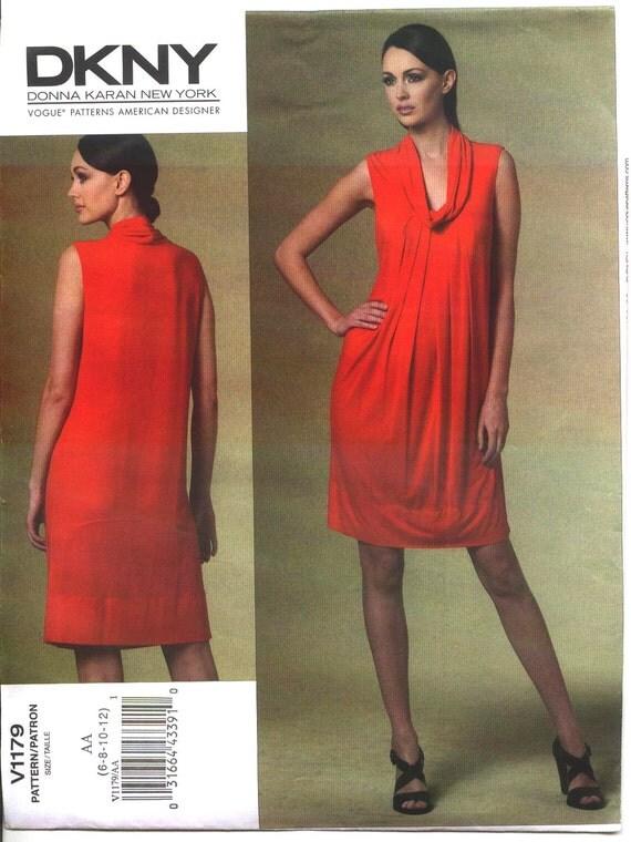 DKNY DONNA KARAN New York  Vogue American Designer  Pattern v1179  Sz 6-12 or 14-22 New Uncut