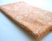 """Large """"Sketchbook Flowers"""" in Orange burp cloth with ORGANIC absorbent French Terry Cloth"""