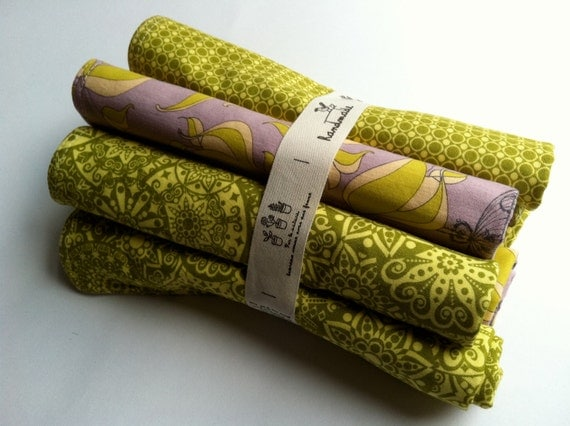 Eco Burp Cloths with Organic French Terry: set of 6
