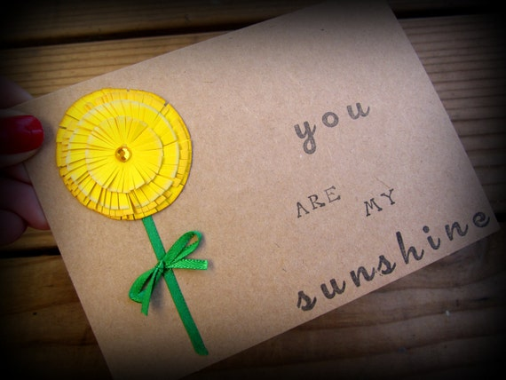 """Note Card """"You are my Sunshine"""""""