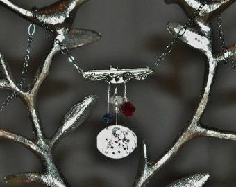 OOAK Steampunk Submarine Watchworks Necklace