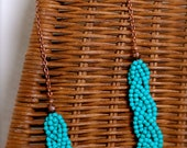 Turquoise braided bead necklace