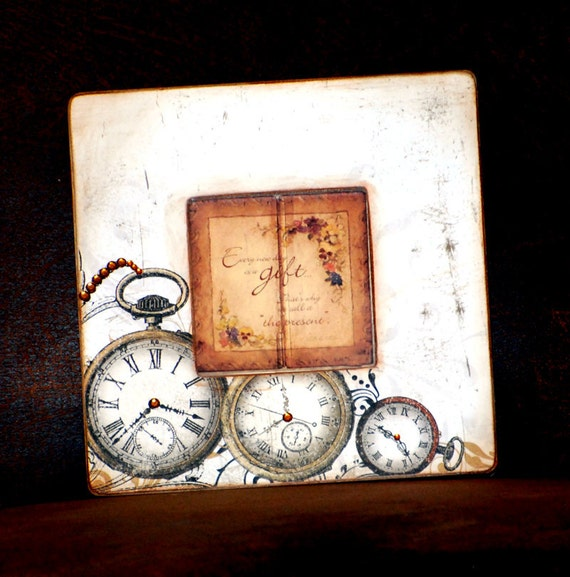 Clock Wooden Picture Frame