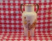 Creamy White Vase with Yellow Roses, Home Decor, Flower Vase