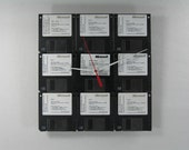 Windows for WorkGroups 3.1 DOS 6.22 Floppy Disks  Wall Clock, Geekery, Clocks by DanO