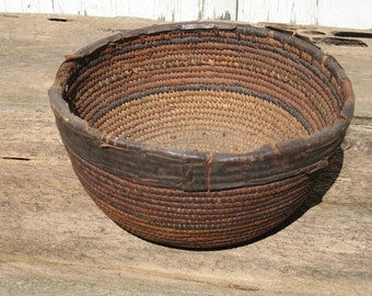 African Basket, Bowl, Black Americana, Home Decor