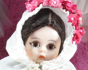 Vintage, 8 inch Doll, Madame Alexander Doll, International, Collectible, Gift for Her, Greece