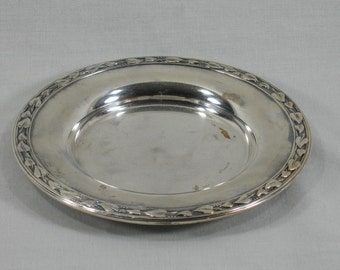 Vintage Silver Tray, Candle Holder, Shabby Chic, Silverplate