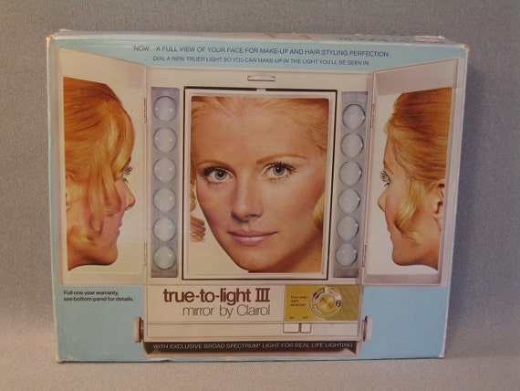 Vintage Lighted Make Up Mirror Clairol True To Light Iii