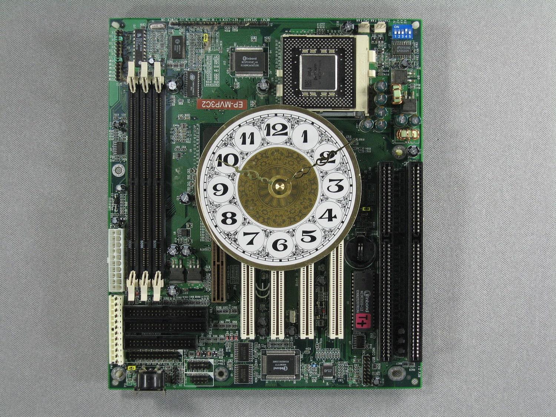 Handmade Wall Clock Old Computer Motherboard Clocks By