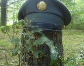 Awesome Army Officer's cap -1947 Army issue hat Post WWII -excellent condition -Steampunk or Halloween attire