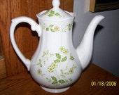 Petite Flora Ironstone Carafe and Teapot