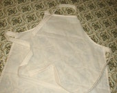 Handmade Muslin Apron Ready to Decorate to your taste for kids