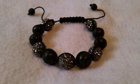 Black Handmade-Shamballa-bracelet