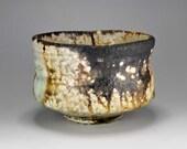 Shigaraki, anagama, ten-day anagama wood firing, with natural ash deposits tea bowl. chawn-68.