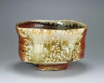 Shigaraki, anagama, ten-day anagama wood firing, with natural ash deposits tea bowl. chawan-62