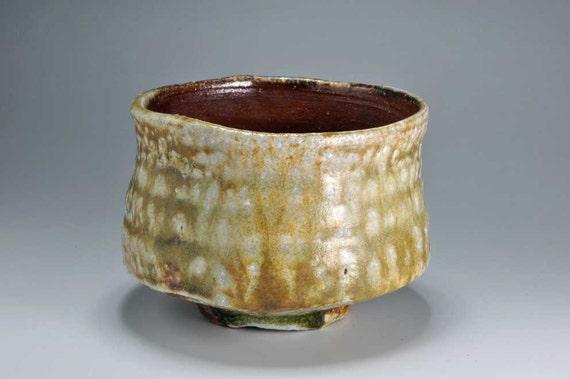 Shigaraki, anagama, ten-day anagama wood firing, with natural ash deposits tea bowl. chawan-21