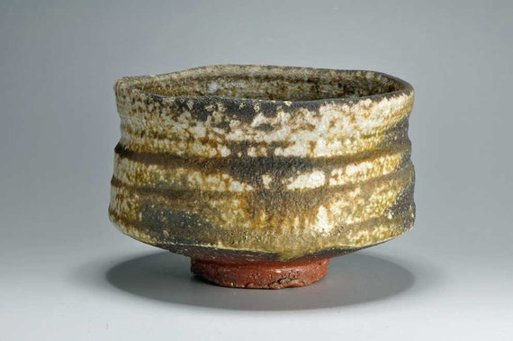 Shigaraki, anagama, ten-day anagama wood firing, with natural ash deposits tea bowl. chawan-31