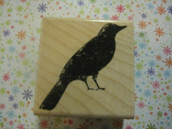 StampabilitiesTextured Bird Mounted Rubber Stamp -- great for  papercrafts, cards, and scrapbooking