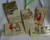 Retro Bookmarks 1950's Vintage Laminated On Cherry Street Reader Bookmarks Retro Family Set of 5