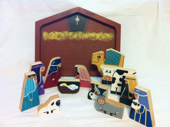 Handmade Wooden Nativity Puzzle
